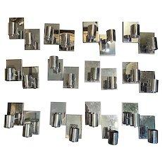 Collection of Designer Lite Trend Mid-Century Modern Chrome Single Light Sconces