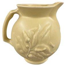 Klein Reid NY Studio Pottery Ceramic Pitcher with Foliate Decoration
