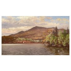 William Preston Phelps Oil Painting, Mount Monadnock from Thorndike Pond, Jaffrey NH
