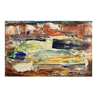 Norman Carton Abstract Expressionist Oil Painting, Sunrise