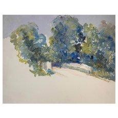 Nina Zbanduto Russian Mid Century Impressionist Landscape Oil Painting