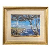 Ed Heath 20th c American Oil Painting of a Coastal Landscape, Palos Verdes CA
