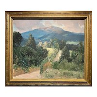 Hermann Dudley Murphy NH Landscape Oil Painting, Monadnock from Troy Road