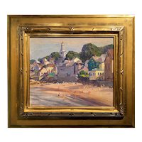 Emile Albert Gruppe Coastal Oil Painting, Front Beach, Rockport MA