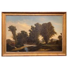 Frederick Dickinson Williams Landscape Oil Painting, Vista from West Campton NH