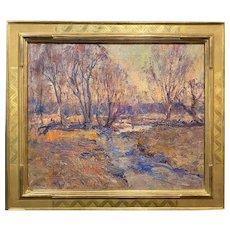 Emile Albert Gruppe Impressionist Oil Painting, Fall Landscape