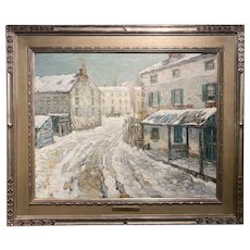 Paul Bernard King Oil Painting, Bucks County Winter Landscape