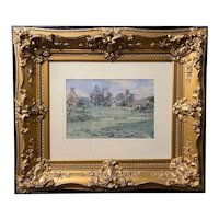 Elfrida Tharle-Hughes Watercolor Painting of the English Countryside