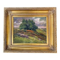 George Arthur Hayes Gouache Hillside Landscape Painting