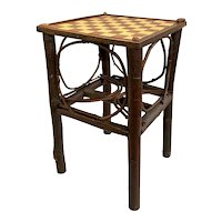 Vintage Rustic Adirondack Checkerboard Log Holder