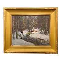 Thomas R. Curtin Winter Landscape, Brewster River Woodland, Jeffersonville VT