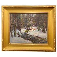 Thomas R. Curtin Winter Landscape, Brewster River Woodland, Jeffersonville VT