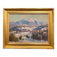 Thomas R. Curtin Winter Landscape, Mount Mansfield Above Cambridge,  VT