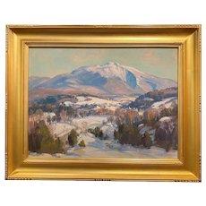 Thomas R. Curtin Winter Landscape, Mount Mansfield Above Cambridge,  VT