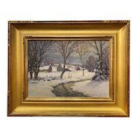 Thomas R. Curtin Winter Landscape,  Pleasant Valley Farm VT