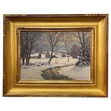 Thomas R. Curtin Winter Landscape,  Pleasant Valley Farm VT