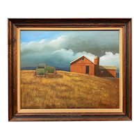 Theodore Thoben Landscape Oil Painting with Barn, Berkshire Autumn