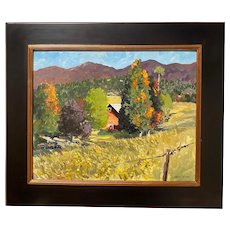 Mike MacLean Impressionist Oil Painting Autumn Landscape, Turning Point, Stowe VT