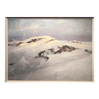 Eric Sloane Winter Mountain Landscape with Skier