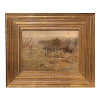 Chauncey Foster Ryder Impressionist Oil Painting, Landscape with Trees