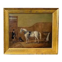 W.M. Fellows British Equestrian Oil Painting, St. James (Horse), 1825