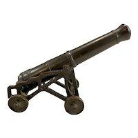 19th c Scale Foundry-Made Bronze British Presentation Cannon for Edward J Paterson