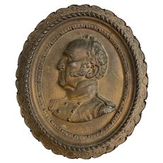 Cast Iron Oval Campaign Plaque of General Winfield Scott for the 1852 US Presidential Election