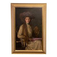 Lee Lufkin Kaula Oil Painting Portrait of a Lady with a Parasol