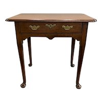 Rare 18th Century English Table in Walnut with Pinched Top Corners
