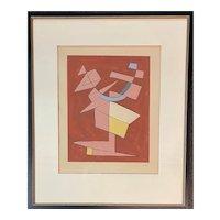 Alberto Magnelli Abstract Futurism Lithograph circa 1950's
