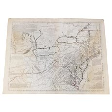 Lewis Evans/Carington Bowles's New Pocket Map of the Middle British Colonies circa 1770's