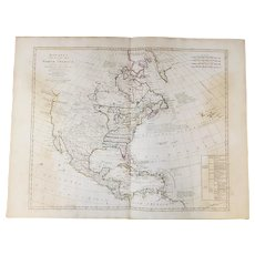 Bowles's New Pocket Map of North America Divided Into Its Provinces, Colonies, Etc. By J. Palairet circa 1770's