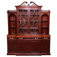 Exceptional Custom Mahogany Breakfront Server Cabinet by Joseph Gerte, Boston
