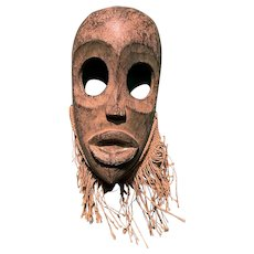 Small African Hand Carved Tribal Mask, Probably Dan