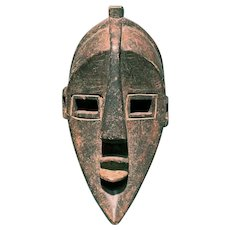 Small African Hand Carved Tribal Mask, Probably Baka