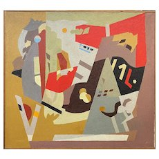 Peter Winslow Milton Oil Painting, Cubist Abstract