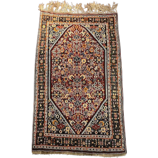 Qashqai Tribal Handwoven Wool Rug, circa 1930s