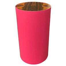 Peter Sandback Modernist Maple Drum Table With Burled Walnut Top