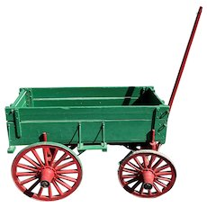 Early 20th c Painted Farm Cart or Wagon with Ohio Origin