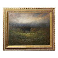 George W. Whitaker Oil Painting, Barbizon Landscape with Cows