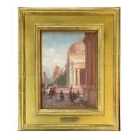 Alice Brown Chittenden Oil Painting, Pan Pacific Exposition, 1915, Presidio San Francisco