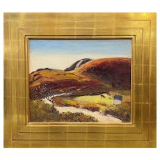 Tod Lindenmuth Coastal Landscape Oil Painting, Dunes