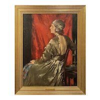 Mary Rosamond Coolidge Oil Painting Portrait of a Woman, Juliet