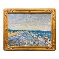 Stephen Motyka Impressionist Oil Painting, Horse Neck Beach, Westport MA