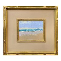 Stephen Motyka Impressionist Oil Painting, Beach at Watch Hill