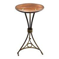 Rare 19th Century Continental Mahogany & Brass Campaign Style Tilt Top Lectern