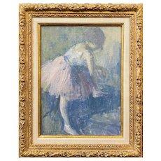 Edmund William Greacen Impressionist Figural Oil Painting, Ballerina