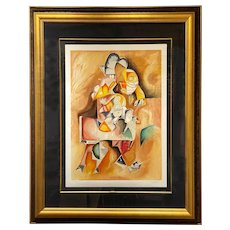 Alexandra Nechita Limited Edition Framed Cubist Expressionist Lithograph 18/25 1999