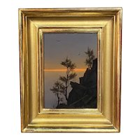 William R. Davis Luminous Landscape Oil Painting, Mountain Cedars