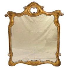 Mid Century Gilded Nouveau Italian Wooden Frame Mirror, circa 1960's